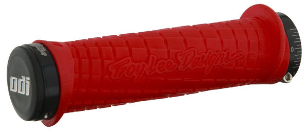 ODI TROY LEE DESIGNS LOCK ON GRIPS - ROJO