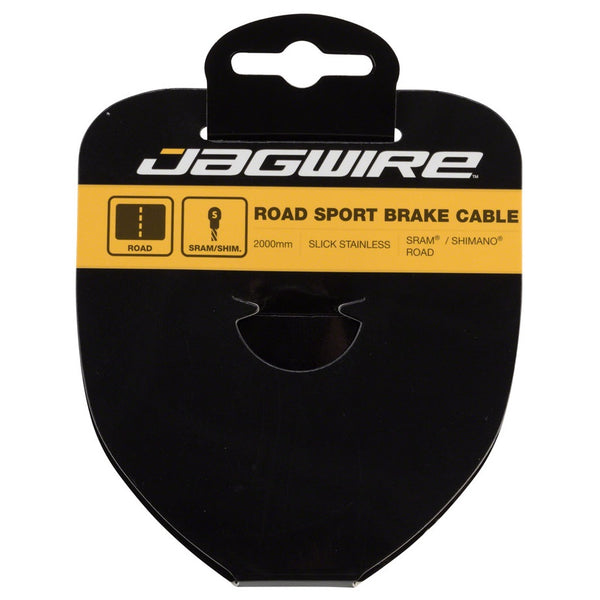 CABLE DE FRENO SPORT JAGWIRE 1.5X2000 MM SLICK STAINLESS SRAM / SHIMANO ROAD