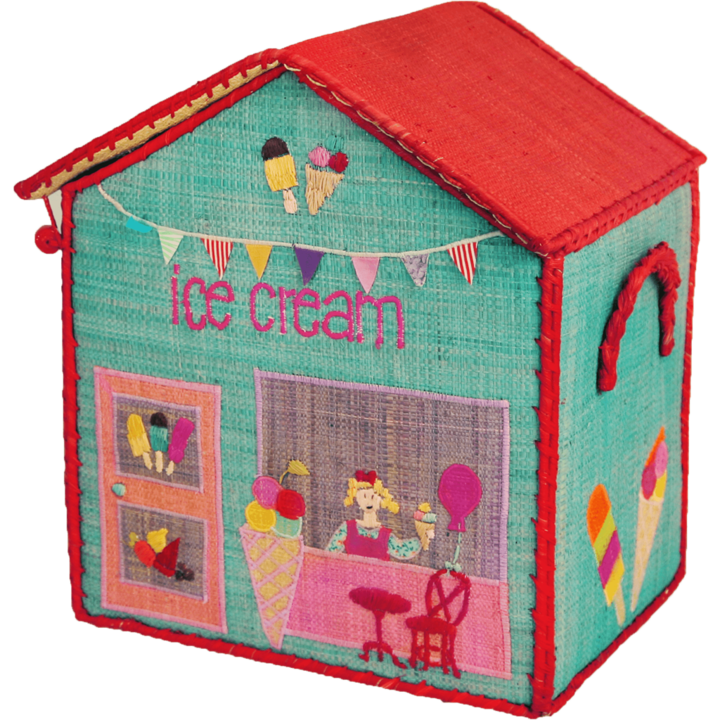 Ice Cream Shoppe Raffia Toy Box: Small