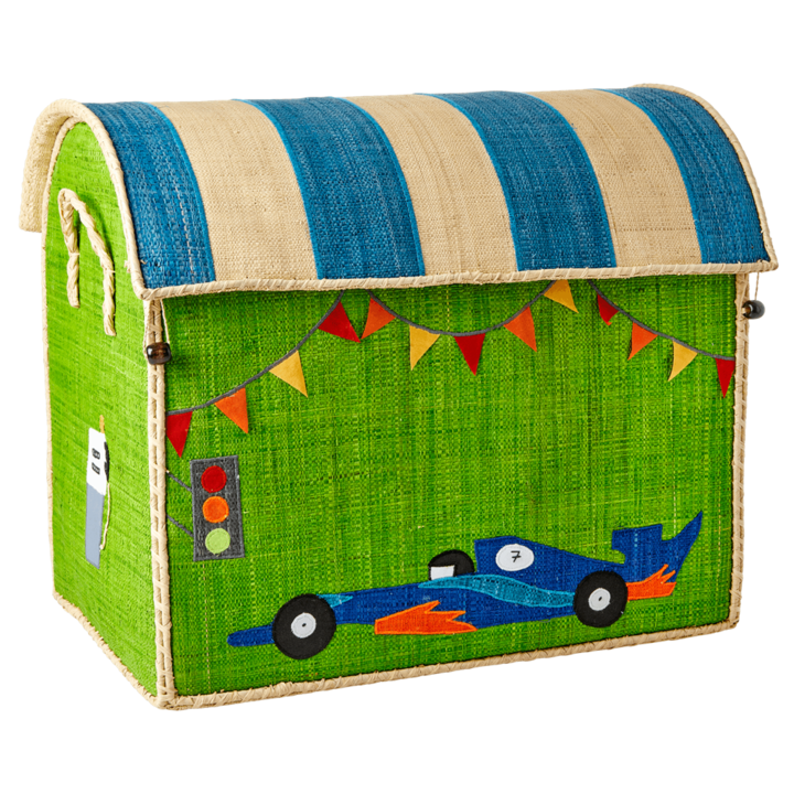 Speedster Raffia Toy Box: Large