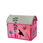 Toucan Raffia Toy Box: Small