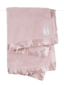 Dusty Pink Little Giraffe Chenille Blanket
