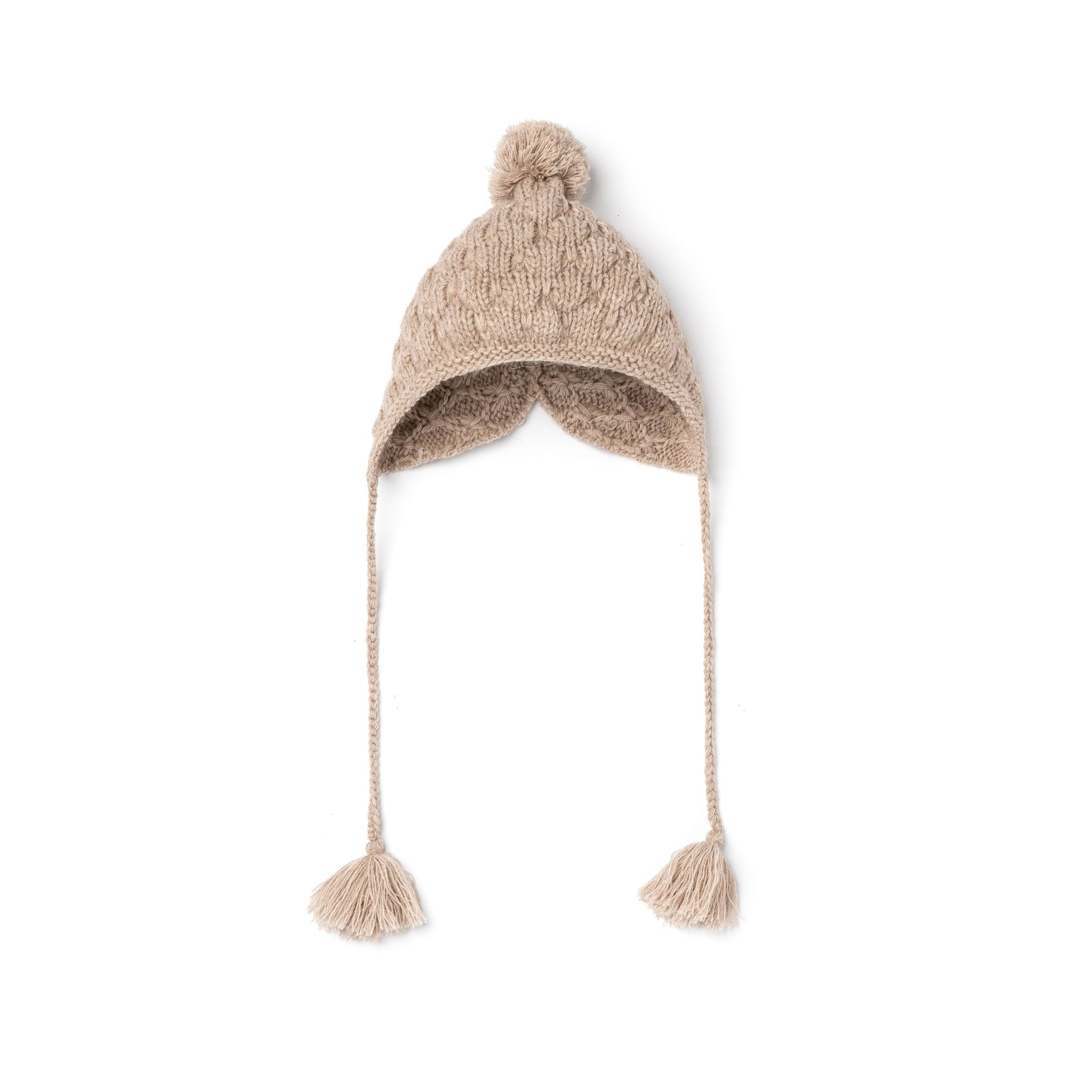 Knitted Oatmeal Hat