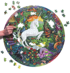 500pc Round Unicorn Puzzle