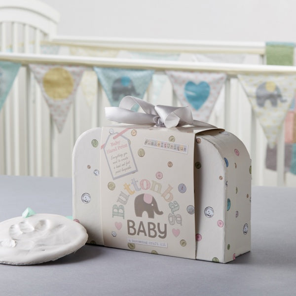 Button Bag Baby Handprint Kit