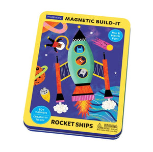 Rocket Ship Magnetic Tin