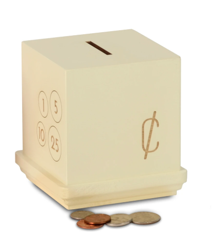 Kerri Lee Modern Cents Wooden Bank
