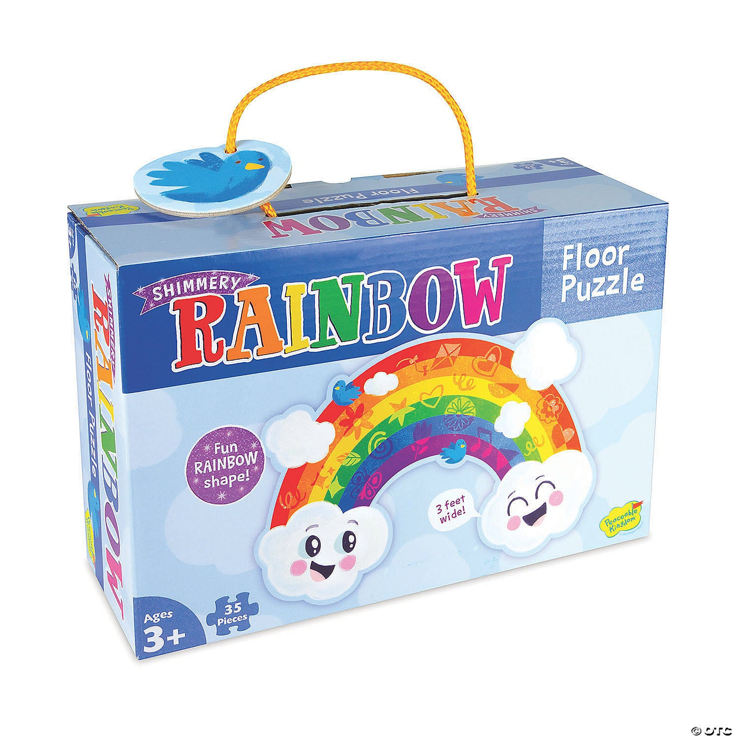 Rainbow Shimmer Floor Puzzle