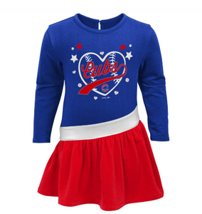 Long Sleeve Cubs Diamond Dress