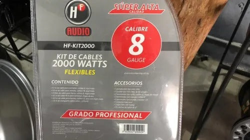 Kit Cables 2000 Watts Acabado Mate Flexible Sonido Rzr