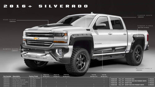 Kit Off Road Airdesign Chevrolet Silverado 2016/17 Cheyenne