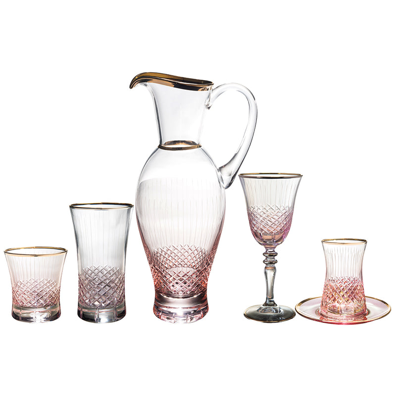 361-391-3633R Antik Pembe Çay Set (5115857010823)