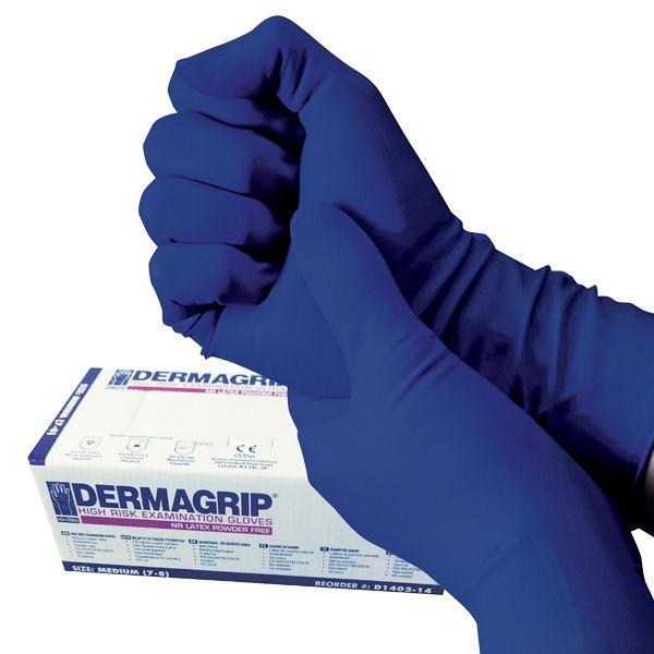 Exam Dermagrip High Risk Glove Latex Powder Free x50
