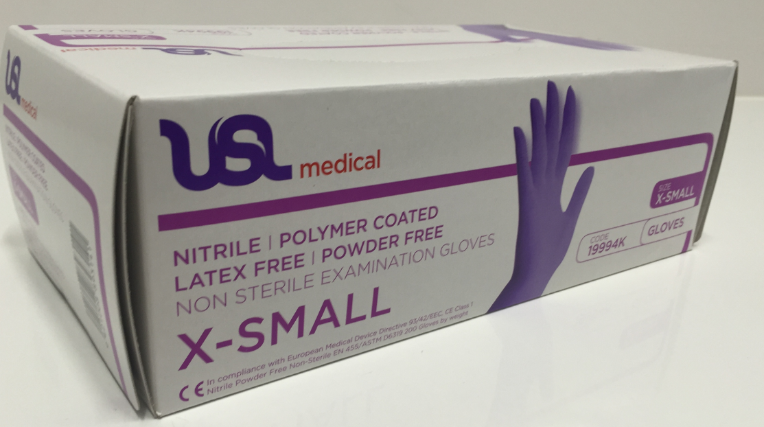 Exam Glove Nitrile Polymer Powder Free x200
