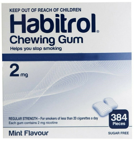 Habitrol Nicotine Gum 2 mg 384 Pieces Bulk Box