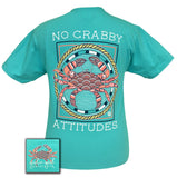 Girlie Girl Originals T-Shirt - No Crabby Attitudes - Color Tropical Blue