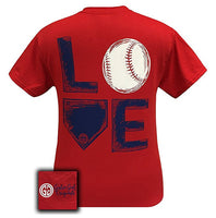Girlie Girl Originals T-Shirt - Love Baseball - Color Red