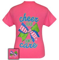 Girlie Girl Originals T-Shirt - Cheer Hair Don't Care - Cheerleader Tee