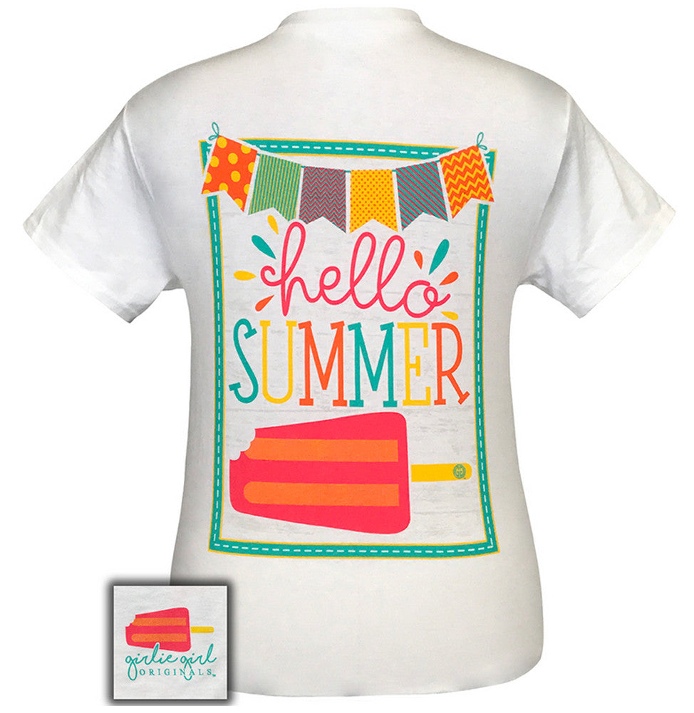 Girlie Girl Originals T-Shirt - Hello Summer Popsicle - Color White