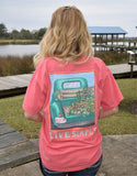 Anna Grace Tees T-Shirt - Live Simply - Pickup Truck Flowers - Comfort Colors Tee