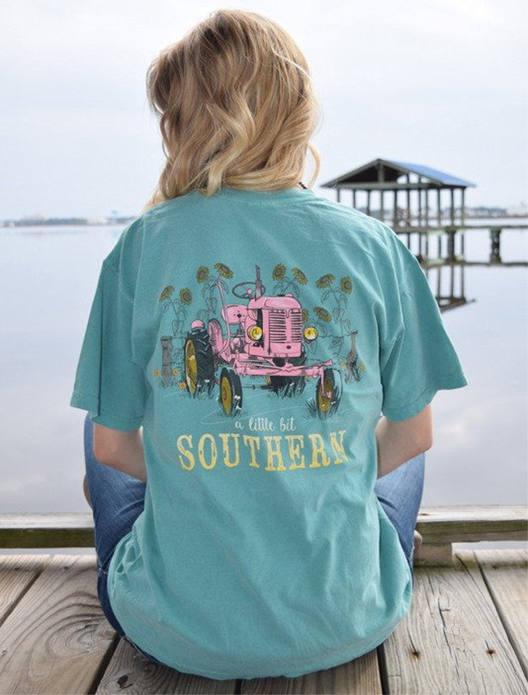 Anna Grace Tees T-Shirt - Tractor - A Little Bit Southern - Comfort Colors Tee