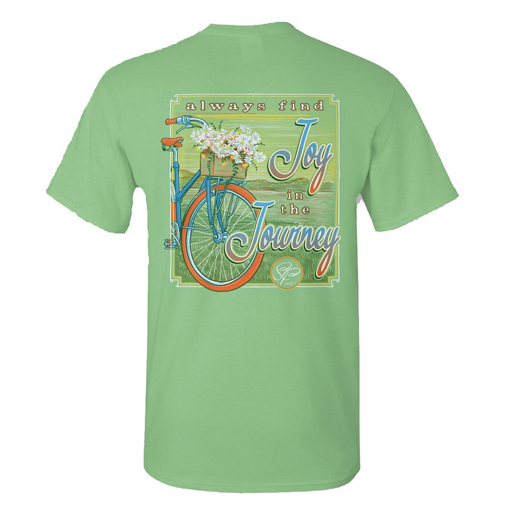 Sassy Frass T-Shirt - Joy In The Journey - Bicycle - Comfort Color Tee