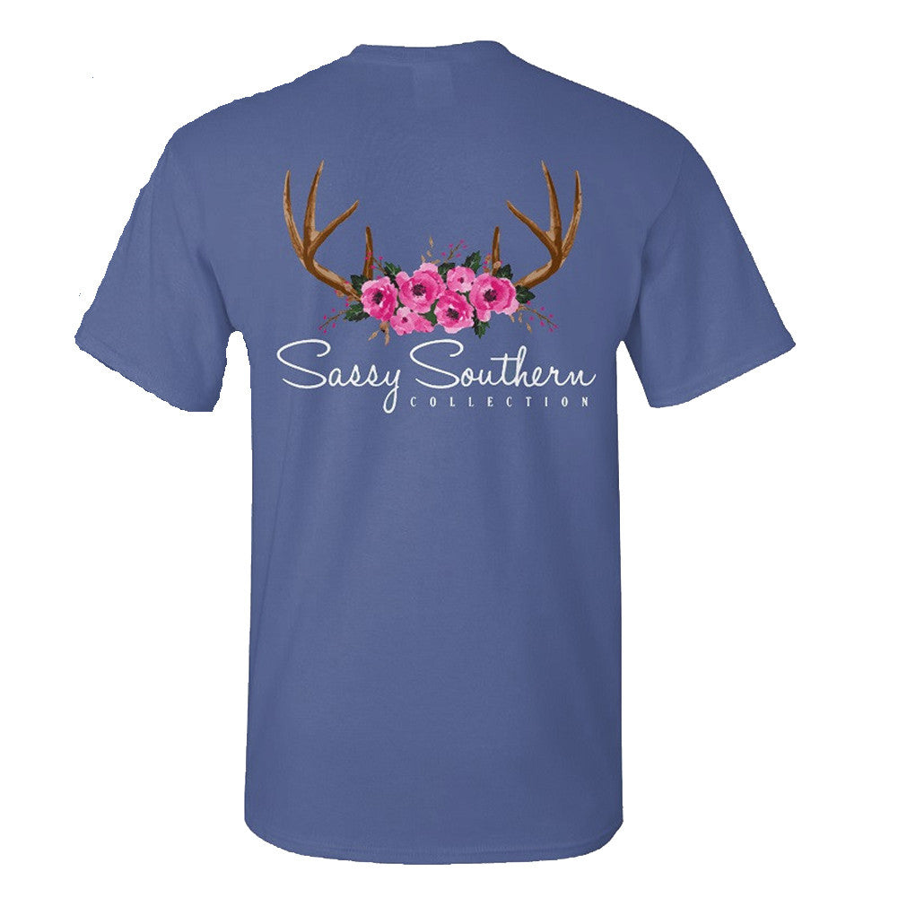 Sassy Frass T-Shirt - Antlers And Roses - Comfort Color Tee