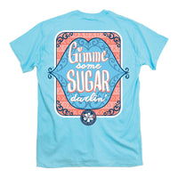 Itsa Girl Thing T-Shirt - Gimme Some Sugar Darlin - Color Sky Blue