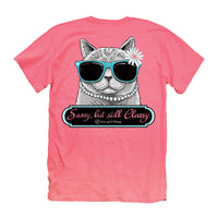 Youth Itsa Girl Thing T-Shirt - Cat Tee - Sassy But Still Classy - Color Coral