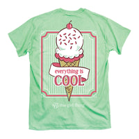Youth Itsa Girl Thing T-Shirt Ice Cream Everything Is Cool - Color Mint