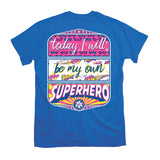 Youth Itsa Girl Thing T-Shirt - My Own Superhero - Color Royal