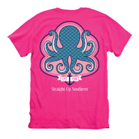 Youth Itsa Girl Thing T-Shirt - Octopus Tee - Color Hot Pink