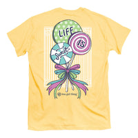 Youth Itsa Girl Thing T-Shirt - Lollipop - Life Is Sweet - Color Yellow Haze