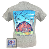 Girlie Girl Originals Barn Hair Don't Care Sports Grey Short Sleeve T-Shirt