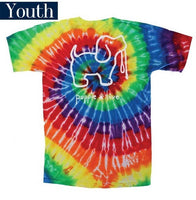 Youth Puppie Love Tee - Tie Dye Pup - Puppy T-Shirt - Color Tie Dye