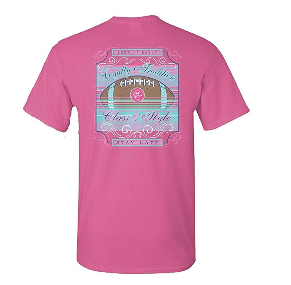 Sassy Frass Unisex T-Shirt - Football Show Up Early Stay Late - Comfort Color Tee