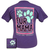 Girlie Girl Originals T-Shirt - Fur Mama - Color Heather Purple