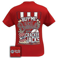 Girlie Girl Originals T-Shirt - Peanuts and Cracker Jacks Baseball