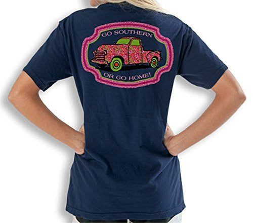 Itsa Girl Thing T-Shirt Go Southern Or Go Home - Color Navy