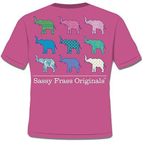 Sassy Frass Tees Unisex T-Shirt - Elephant Tusk With Different Patterns - Comfort Colors