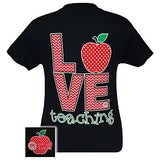 Girlie Girl Originals Teacher Love Teaching T-Shirt Black