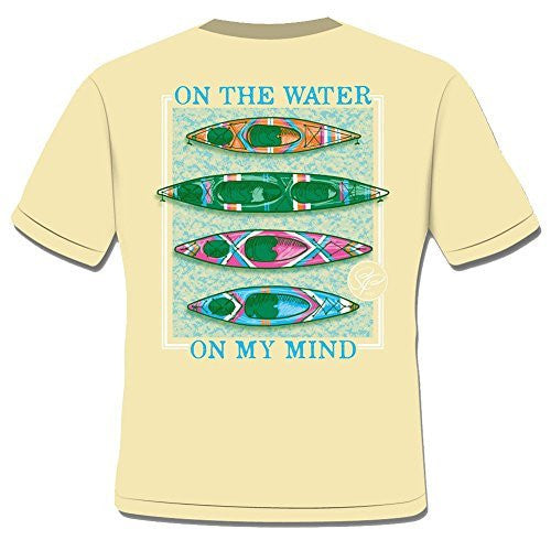Sassy Frass Tees Unisex T-Shirt - Water On My Mind Kayak - Comfort Colors