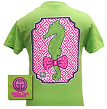 Girlie Girl Originals Unisex T-Shirt - Preppy Seahorse With Bow Tie - Comfort Colors