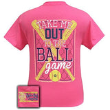 Girlie Girl Originals Unisex T-Shirt - Take Me Out To The Ballgame - Softball