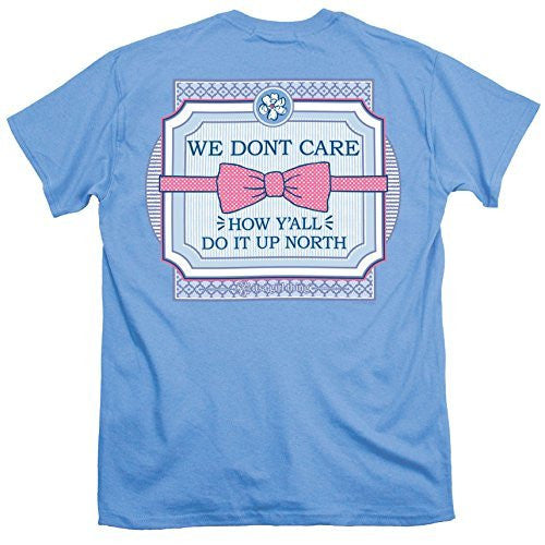 Itsa Girl Thing T-Shirt Bow Tie - We Don't Care - Color Carolina Blue