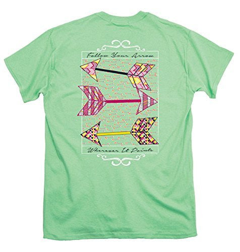 Itsa Girl Thing T-Shirt Follow Your Arrow Wherever It Points - Color Mint