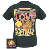 Girlie Girls All You Need is Love and Softball Short Sleeve T-Shirt