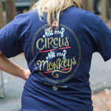 Itsa Girl Thing T-Shirt - Not My Circus Not My Monkeys - Color Navy