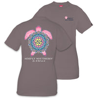 Simply Southern Tees Preppy Turtle T-Shirt - Love All That You Do - Tee Color Steel