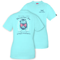 Simply Southern Tees Preppy Bow T-Shirt - Who Needs A Crown - Color Marine